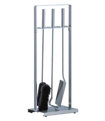 Kaminbesteck, Edelstahl, 3-teilig, 64 cm