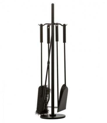 Kaminbesteck, schwarz, 4-teilig, 67 cm