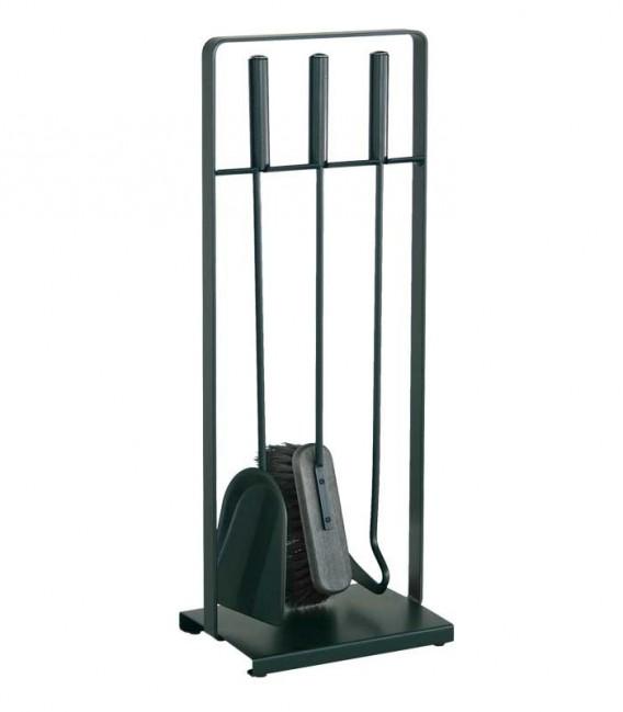 Kaminbesteck, schwarz, 3-teilig, 64 cm
