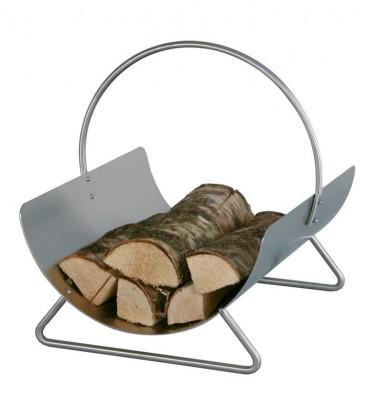 Holzkorb aus Edelstahl mit Griff