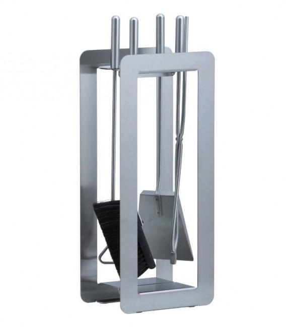 Kaminbesteck, Edelstahl, 4-teilig, 59 cm