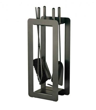 Kaminbesteck, schwarz, 4-teilig, 59 cm