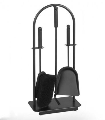 Kaminbesteck, schwarz, 3-teilig, 57 cm
