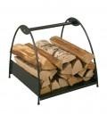 Holzkorb mit Griff, schwarz