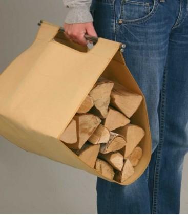 Brennholztasche mit Halterung