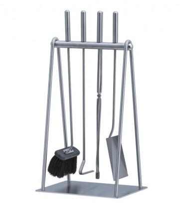 Kaminbesteck, Edelstahl, 4-teilig, 62 cm