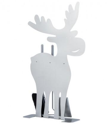 Kaminbesteck ELCH, Edelstahl, 3-teilig, 85 cm