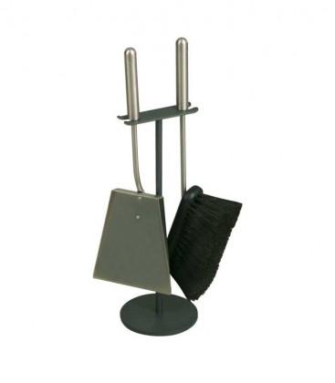 Kaminbesteck Materialmix, 2-teilig, 45 cm