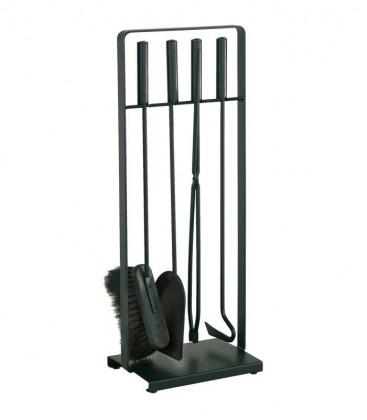 Kaminbesteck, schwarz, 4-teilig, 64 cm