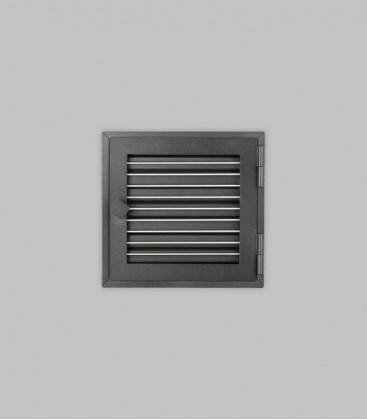 Röhrtür DALARNA 1-türig 23 x 23, schwarz