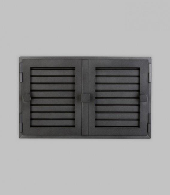Röhrtür GARDA 2-türig 42 x 26, schwarz