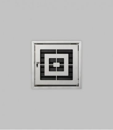 Röhrtür PISA 1-türig 23 x 23, Edelstahl