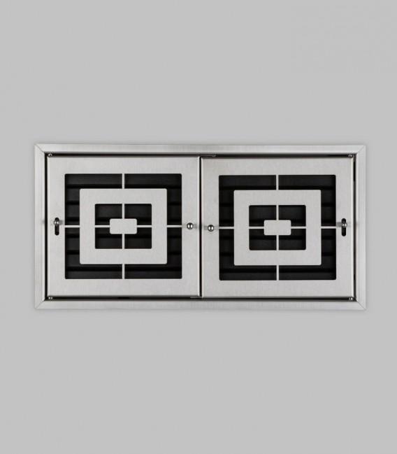 Röhrtür PISA 2-türig 46 x 23, Edelstahl