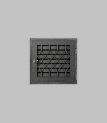 Röhrtür FLANDERN 1-türig 23 x 23, schwarz