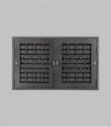 Röhrtür FLANDERN 2-türig 42 x 26, schwarz