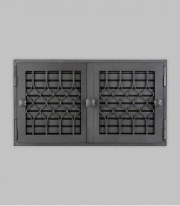 Röhrtür FLANDERN 2-türig 46 x 26, schwarz