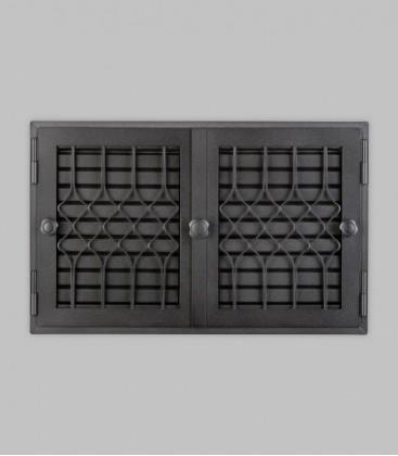 Röhrtür FLANDERN 2-türig 46 x 29, schwarz