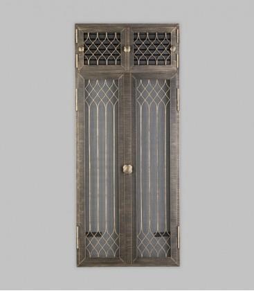 Vortür mit Röhrtür FLANDERN 2-türig 47 x 110, terra bronce