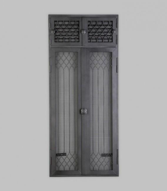 Vortür mit Röhrtür FLANDERN 2-türig 47 x 110, schwarz