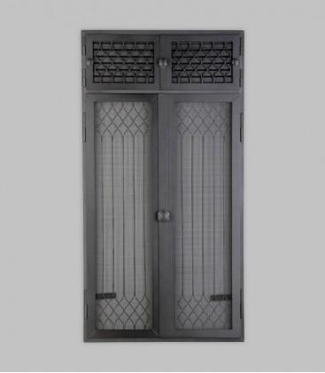 Vortür mit Röhrtür FLANDERN 2-türig 57 x 110, schwarz