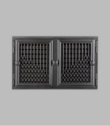 Röhrtür BURGUND 2-türig 42 x 26, schwarz