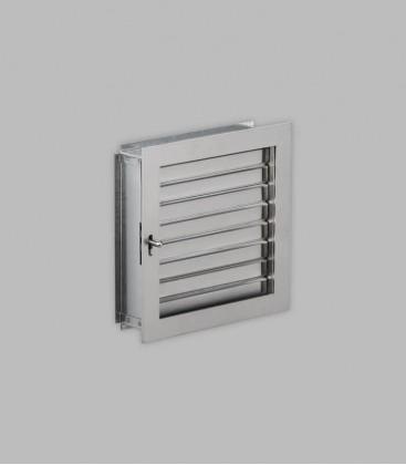 Ventilation 23 x 23, Edelstahl