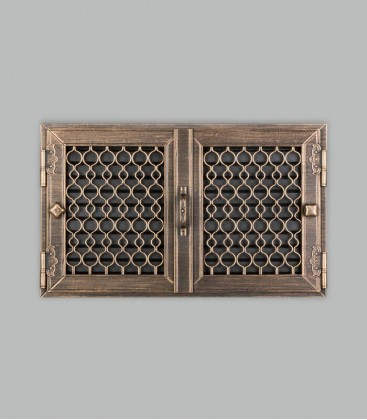 Röhrtür TESSIN 2-türig 42 x 26, terra bronce