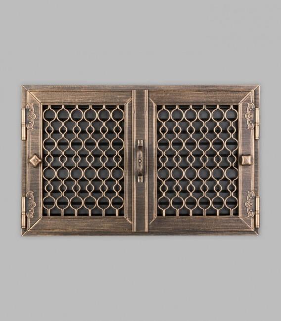 Röhrtür TESSIN 2-türig 46 x 29, terra bronce