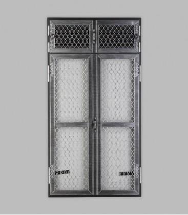 Vortür mit Röhrtür TESSIN 2-türig 47 x 110, antik