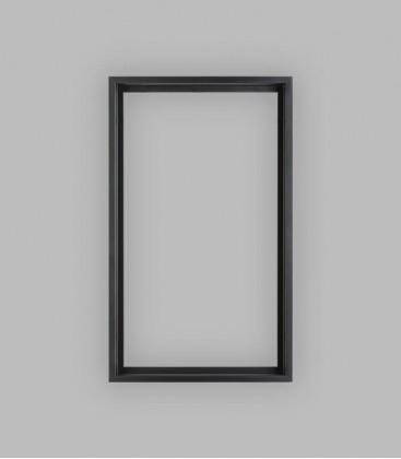 Einbauzarge schwarz, Schlupfmaß 46 x 82