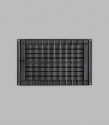 Deckengitter 35 x 23, schwarz