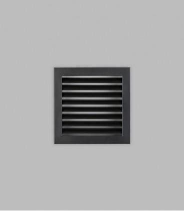 Lüftungsgitter 23 x 23, schwarz