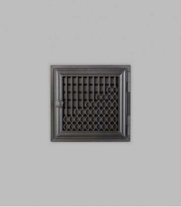 Röhrtür BURGUND 1-türig 23 x 23, schwarz