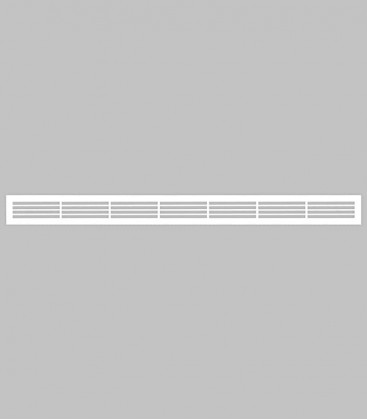 Lüftungsgitter horizontal 100,1 x 8,3 reinweiß