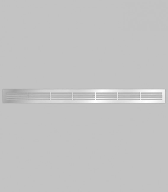 Lüftungsgitter horizontal 100,1 x 8,3 Edelstahl