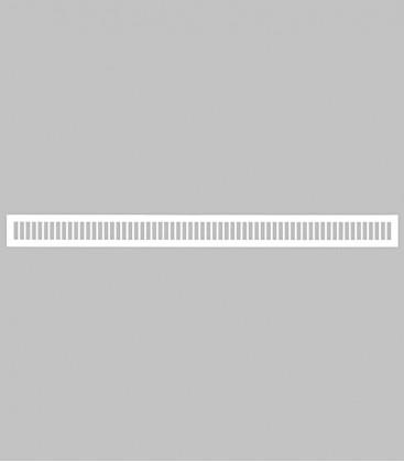 Lüftungsgitter vertikal 100,1 x 8,3 reinweiß