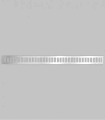 Lüftungsgitter vertikal 100,1 x 8,3 Edelstahl