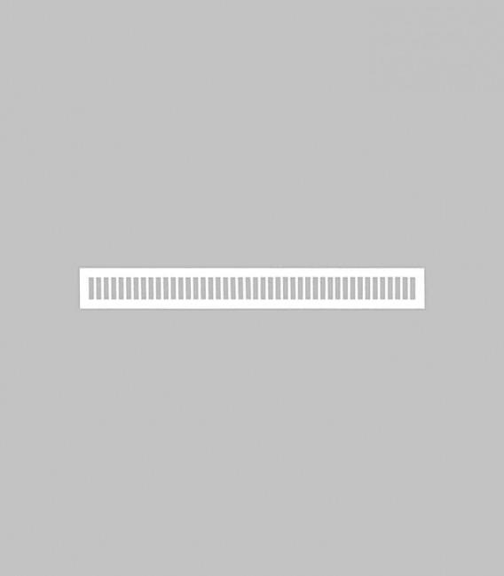 Lüftungsgitter vertikal 70,6 x 8,3 reinweiß