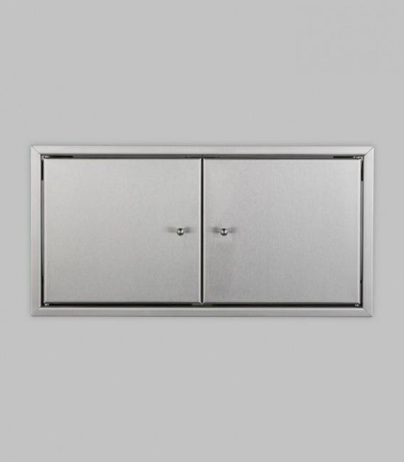 Tür für Warmhaltefach 2-türig 46 x 23, Edelstahl