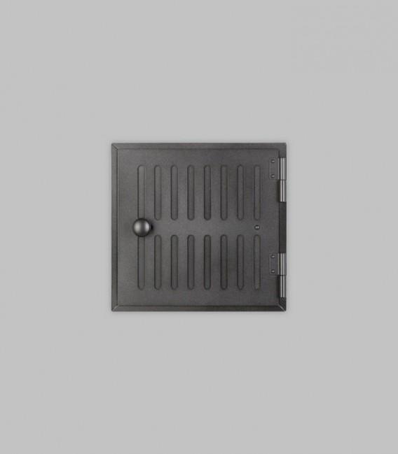 Röhrtür HOLSTEIN 1-türig 23 x 23, schwarz