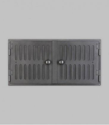 Röhrtür HOLSTEIN 2-türig 46 x 23, schwarz