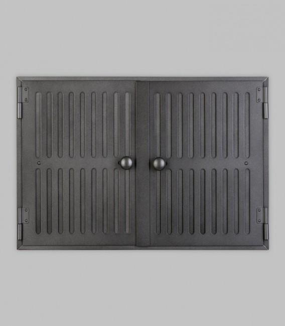 Revisionstür HOLSTEIN 2-türig 48 x 33, schwarz