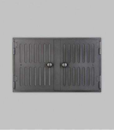 Röhrtür HOLSTEIN 2-türig 42 x 26, schwarz