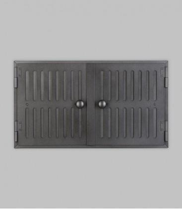 Röhrtür HOLSTEIN 2-türig 46 x 26, schwarz