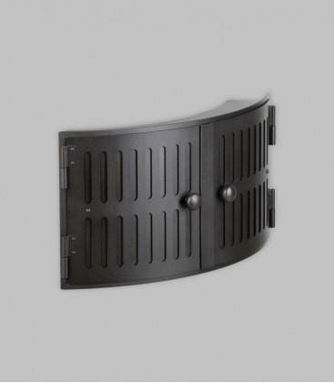 Röhrtür HOLSTEIN 2-türig R 33 konvex 46 x 23, schwarz