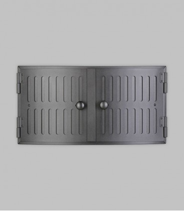 Röhrtür HOLSTEIN 2-türig R 44 konvex 46 x 23, schwarz