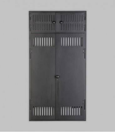 Vortür mit Röhrtür HOLSTEIN 2-türig 57 x 110, schwarz