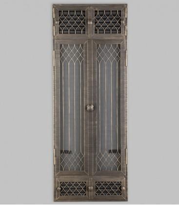 Vortür mit Röhrtür und Ventilation FLANDERN 2-türig 57 x 125, terra bronce