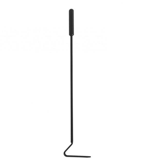 Schürhaken schwarz, Länge 57 cm, Kaminbestecj