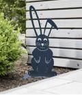 Gartenfigur OSTERHASE, grafitgrau